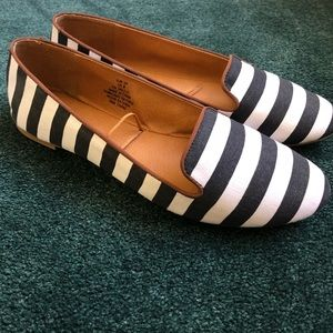 H&M Black and White Striped Flats